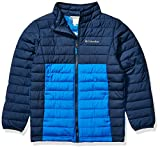 Columbia Boys Powder Lite Jacket, Super Blue, Collegiate Navy ,Small, Little Boys