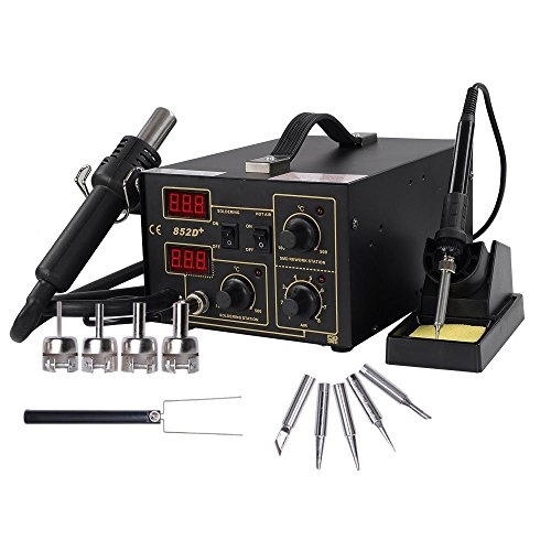 Chi Mercantile 2-in-1 Hot Air and Hot Iron SMD Rework Solder Desolder Station Lead Free