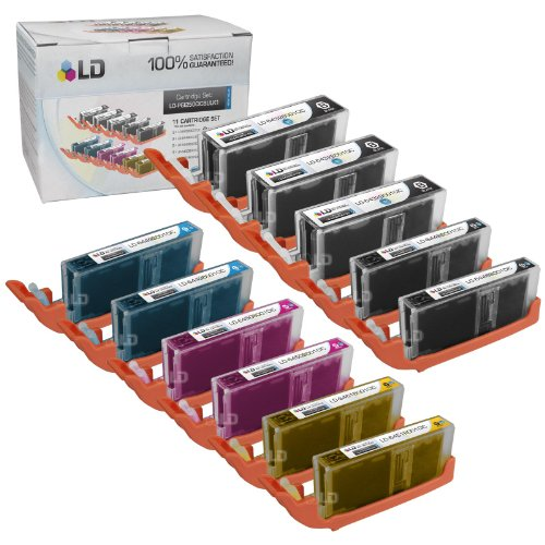 LD Canon Compatible PGI-250XL & CLI-251XL Set of 11 High Yield Ink Cartridges: 3 Pigment Black (PGI-250XL), 2 Black (CLI-251XL), Cyan (CLI-251XL), Magenta (CLI-251XL), Yellow (CLI-251XL)