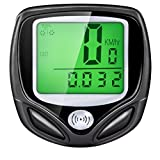 LUPO Bike Computer - Wireless Speedometer, Waterproof Bike and Bicycle Odometer with Automatic Wake-up Multi-Function LCD Backlight Display