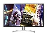 LG 32UL500 Monitor 32' UltraHD 4K LED VA HDR, 3840 x 2160, 4 ms, Radeon FreeSync 60 Hz, HDMI 2.0, HDCP 2.2, Display Port 1.2, Speaker Stereo 10 W, Multitasking, Uscita Audio, Flicker Safe, Bianco