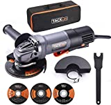 Angle Grinder, 4-1/2-Inch,11A(1300W),12000RPM, High Performance Tool with Paddle Switch, 3 Wheels for Grinding/Polishing/Cutting