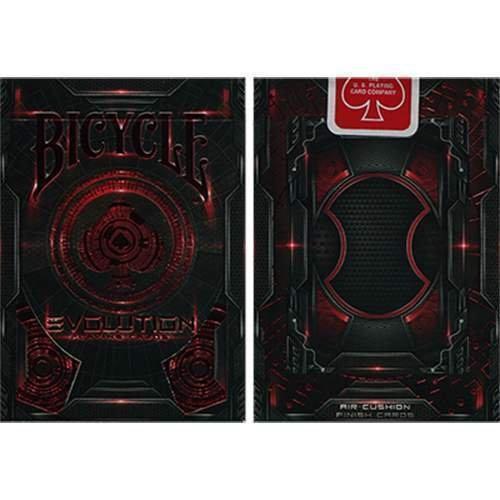Bicycle Evolution Deck (Red) by USPCC -Kartenspielen - Zaubertricks und Magie