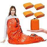 SAINUOD Emergency Sleeping Bag Waterproof Blanket Thermal Survival Bivvy Bags with Ultralight Gear Portable Nylon Sack for Camping, Hiking, Outdoor Adventure Activities(4 Pack)