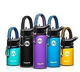 WaterFit Vacuum Insulated Water Bottle - Double Wall Stainless Steel Leak Proof BPA Free Sports Wide...
