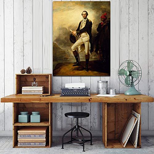 Poster und drucke wandkunst leinwand malerei berühmte Maler Washington Portrait Poster wandkunst Wohnzimmer wanddekoration malerei rahmenlose 30x45 cm