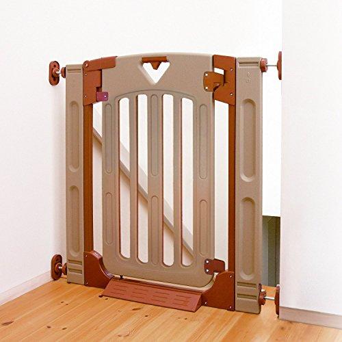 日本育児 ベビーゲート スマートゲイトII プラス 6ヶ月~24ヶ月対象 階段上で使える両開き・片開き選択式の...