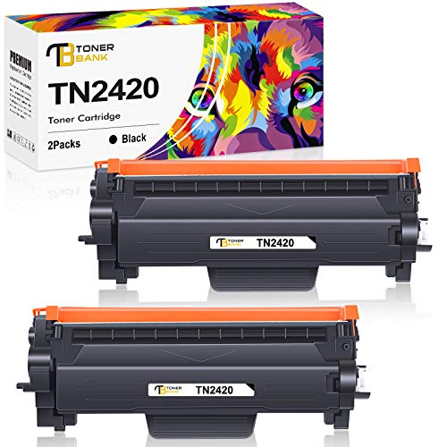 Toner Bank Kompatibel Tonerkartusche als Ersatz für Brother TN2420 TN-2420 TN2410 TN-2410 MFC-L2710DW HL-L2350DW MFC-L2710DN MFC-L2750DW HL-L2375DW HL-L2310D DCP-L2530DW (Schwarz, 2er-Pack)