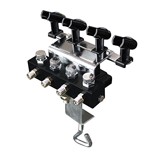 OPHIR Airbrush Holder Station Manifold Table Stand with 4 Splitters That Can Hold Up to 4 Airbrushes (Without air Hose)