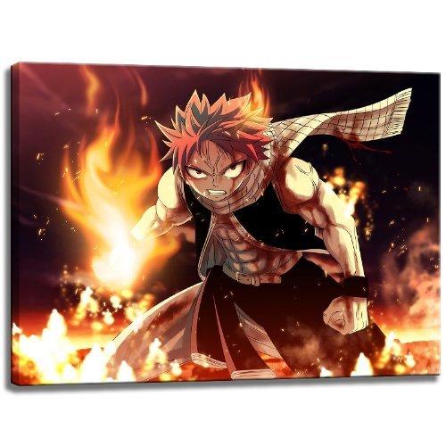 Image Fairytail Natsu sur toile Dimensions: 100 cm x 70 cm. Impression d'art de haute qualité comme une fresque. Moins cher qu'une peinture à l'huile! ATTENTION! Aucune affiche