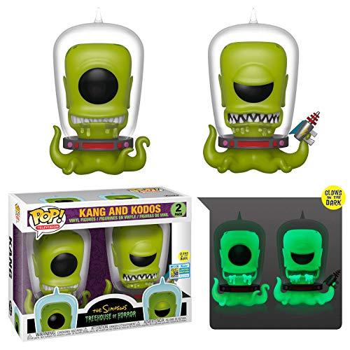 2 Bonecos Os Simpsons Kang e Kodos Edição Especial Summer Convention 2019 Pop Funko SUIKA