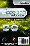 100 Sleeves Sapphire MINI USA 41x63 Bustine Protettive x Giochi da Tavolo