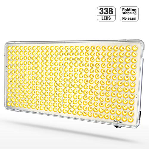 300W LED Grow Light, Relassy Full Spectrum Plants Growing Lights for Indoor Plants, Sunlight LED Indoor Plant Light, 338 LEDs Commercial Grow Panel Light for Indoor Plants Veg and Flower