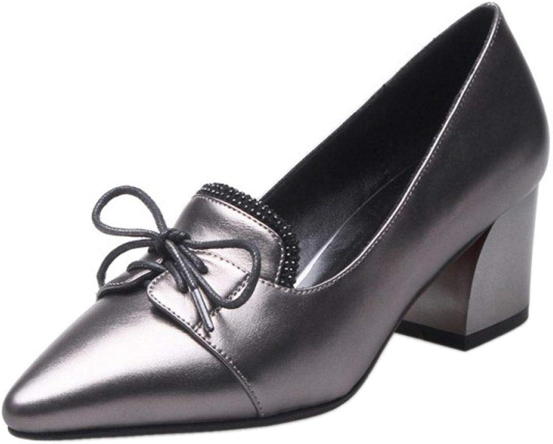 CularAcci Women Fashion Pointed Toe Court shoes