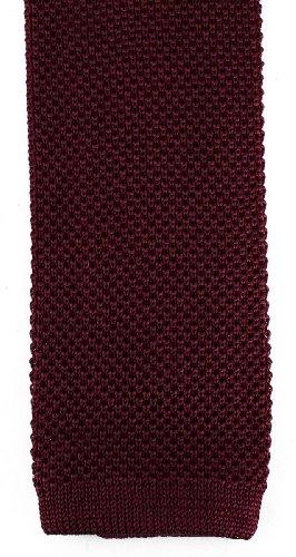 David Van Hagen Plaine vin cravate en tricot de