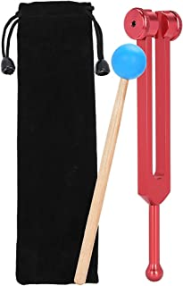 音響療法音叉、194.18アルミニウム合金音叉木製ハンマーボール音治癒療法ツールセット、健康管理とリラクゼーション