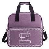 Bolsa de transporte para máquina de coser con correa para el hombro, bolsa de viaje para máquina de coser, varios bolsillos de almacenamiento