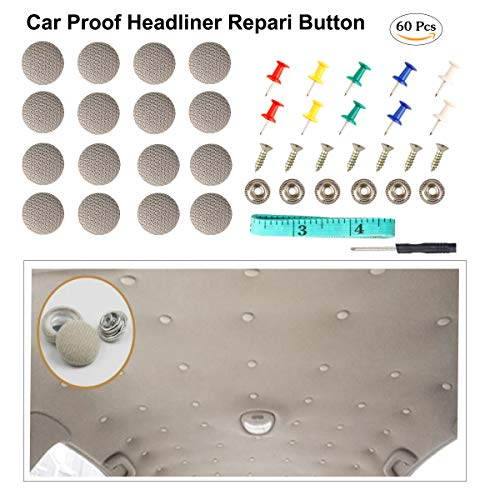 QITONG Car Proof Repair Rivets Headliner Repair Button,60 pcs Auto Roof...