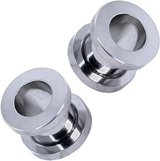tumundo 2 Pezzo Flesh Tunnel Plug Piercing Acciaio Set Colore Orecchini Expander Dilatatore 1,6-10 mm Gioielli