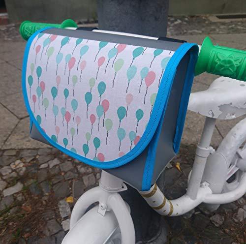 Lenkertasche, wasserdicht von TITA BERLIN, Laufrad, Kinderrad. Luftballons