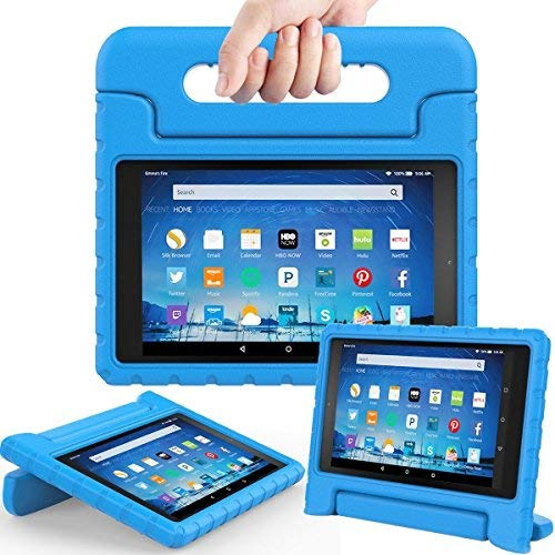 TIRIN All-New Fire HD 8 2018/2017 Case - Light Weight Shock Proof Handle Kid-Proof Cover Kids Case for All-New Fire HD 8 Tablet (7th and 8th Generation Tablet, 2017 and 2018 Release), Blue