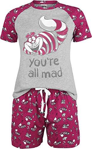 Alice im Wunderland Time After Time Frauen Schlafanzug pink/weiß L