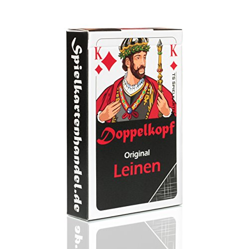 Doppelkopf Original Leinen Kartenspiel, Französisches Bild, Doppelkopfkarten (1x, Karten in Faltschachtel)