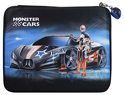 Depesche 6118 - Monster Cars Federtasche, gefüllt, circa 25 x 20 x 3 cm