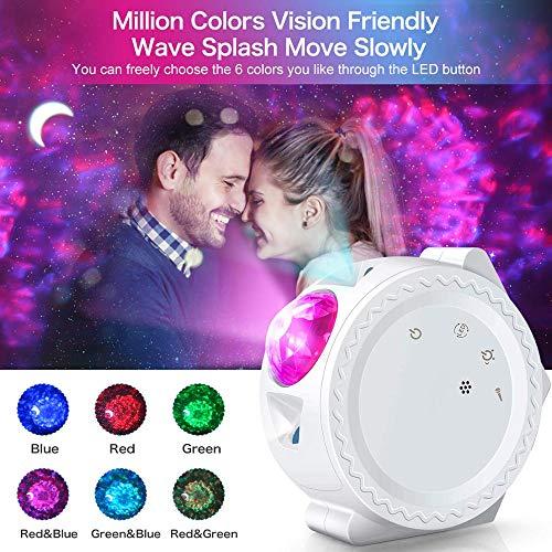 N/ A WiFi LED Night Light, Starlight Projecteur, Lumières LED Nébuleuse Nuage Nuit, Multicolore Océan Ondulation Lumières Lampe De Nuit
