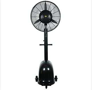 Aires acondicionados móviles Xiaolin Aerosol Ventilador Ventilador Industrial Suelo Ventilador Eléctrico de Alta Potencia Fuerte Comercial 260W (Color : Negro, Tamaño : 65CM)