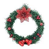 CROSYO 1 UNID Guirnalda de Navidad Frontal Decoraciones Guirnalda Invierno Colgante Ornamentos Colgando de Navidad for la decoración del hogar (Color : A)