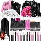 263 Pieces Makeup Applicators Tools Kit, Include 50 Disposable Eyeliner Brushes 112 Mascara Wands Eyelash Brush 100 Lipstick Applicators Lip Wands with Plastic Organizer Box