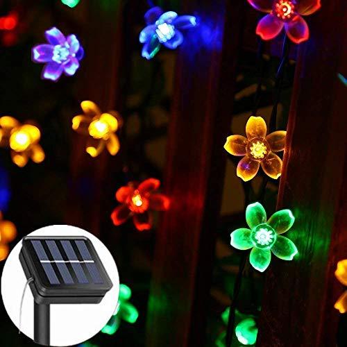 WangWDN Solar snoer verlicht buitenshuis, waterdicht, voor binnen en buiten, decoratieve lichtsnoer voor tuin, binnenplaats, huwelijk, kerstfeest