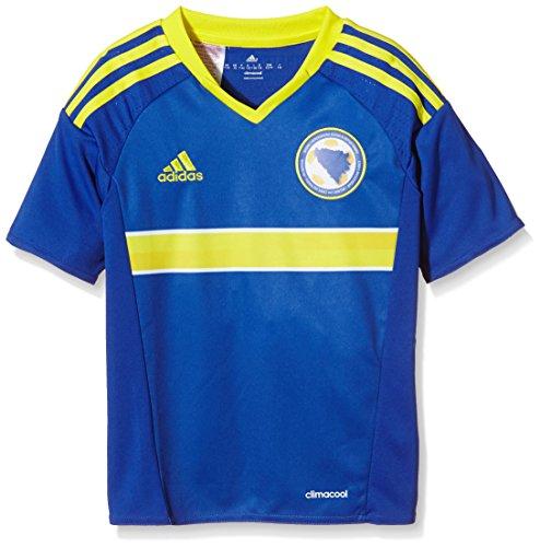 adidas Jungen Kurzarm Heimtrikot Bosnien-Herzegowina Replica, Bold Blue/Bright Yellow, 140