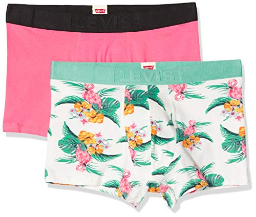 Levi's heren Levis Men Flamingo Aop Trunk 2p Boxershorts (verpakking van 2)