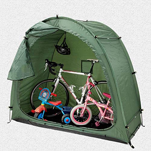 ZMIN Space Saving Outdoor Bike Storage Shed Tent, Garden Storage and Pool Storage with Window Design for Outdoors Camping