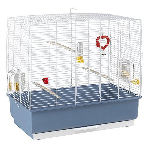 Ferplast - 52003814 - Cage pour oiseaux - Pour perruches - Complètement équipée - 59 x 33 x 57 cm - Vert