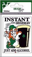 Instant Irishman Oblong Sticker