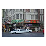 YYone 500 Pieces Jigsaw Puzzles Vegas Strip Limo America Wooden Jigsaw Puzzles Kids Educational Family Game Toys Gift for Adults Teens