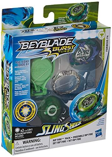 BEYBLADE Burst Slingshock Rip Fire Starter Pack Forneus F4: Light-Up...