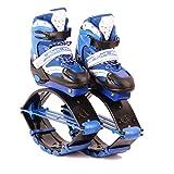 HUWAI Zapatos de Rebote kanogo Saltos Zapatos de Rebote Zapatos de Salto Zapatos de Baile con Botas de Gimnasia para niños Deportes Extremos(Rosa 33-37 Trompeta, Carga-carga30-50KG)