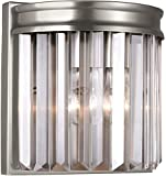Sea Gull Lighting 4414001EN3-965 Carondelet Traditional One Light Wall/Bath Sconce Vanity Style Fixture, Antique Brushed Nickel