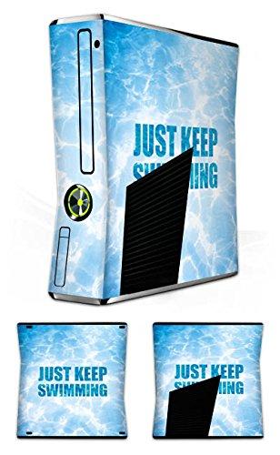 DeinDesign Skin kompatibel mit Microsoft Xbox 360 Slim Folie Sticker Schwimmen Pool Sommer