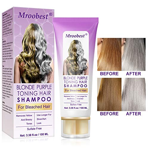 Purple Shampoo, No Yellow Shampoo, Purple Shampoo for Blonde Hair, Brassy, Silver & Color Treated Hair Moisturizer, Bleached & Highlighted Hair, Bleached Hair Toner