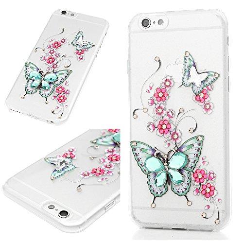 ACE Bilon - Carcasa de Repuesto para iPhone 6S, iPhone 6, Antideslizante, antigolpes, diseño de Brillantes