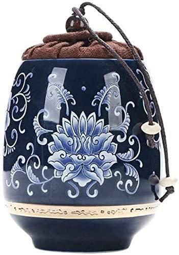 GLFERA Urnas de cremación Humana Acuario Pequeño Recuerdo | Urna funeraria Personal Pintada a Mano de cerámica para Mascotas o Cenizas humanas