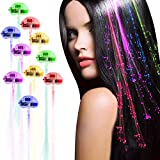 Acooe 30 Pack LED Lights Hair, Light-Up Fiber Optic LED Hair Barrettes Party Favors Party, Bar Dancing Hairpin, Hair Clip, Multicolor Flash Barrettes Clip Braid (30pcs)