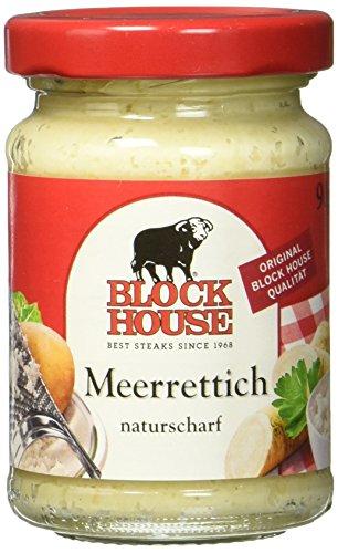 Block House Meerrettich Naturscharf, 6er Pack (6 x 80 g)
