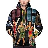 tiao9143 Spice Up Your Life Spice Girls Sudadera con Capucha para Hombre Sudadera Color Bolsillo con cordón Negro