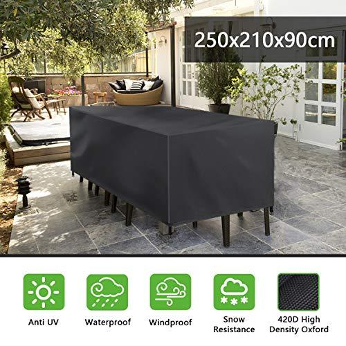 FOCHEA Housse Salon de Jardin, Housse Table de Jardin, 420D Couverture...